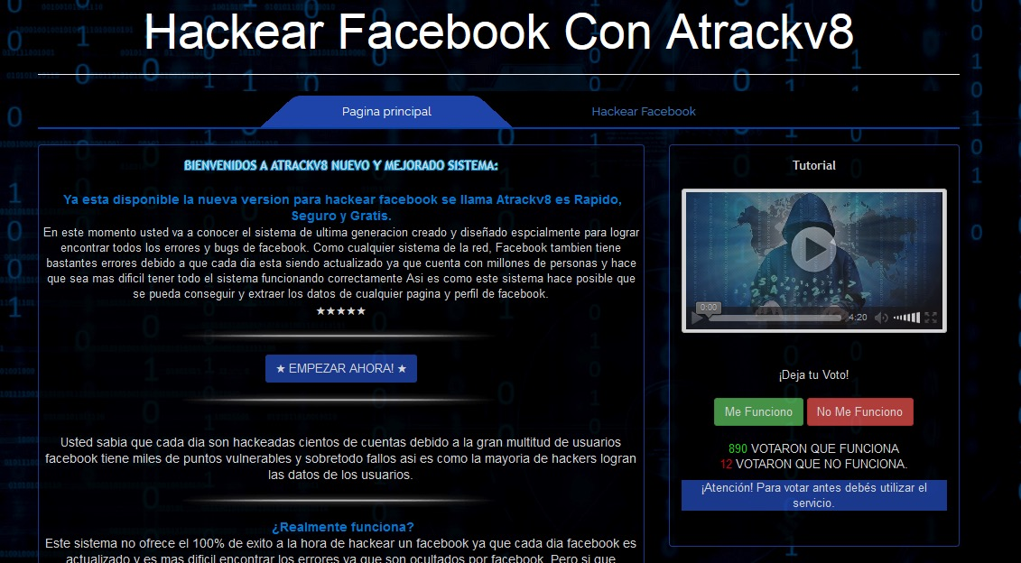 Hackear Facebook atrackv8