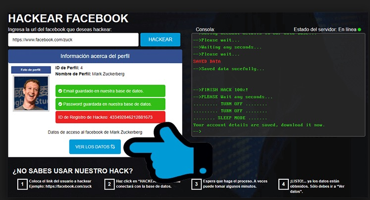 Hackear Facebook muffintab
